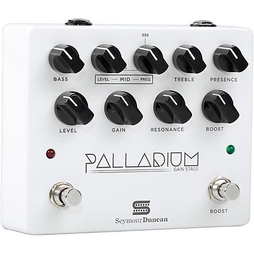 Seymour Duncan Palladium Gain Stage Distortion Guitar Effects  Pedal (White)-thumbnail
