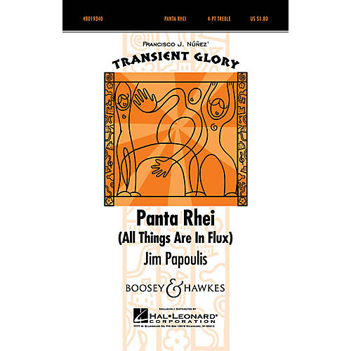 Boosey and Hawkes Panta Rhei (All Things Are in Flux) 4 Part Treble composed by Jim Papoulis arranged by Jim Papoulis-thumbnail