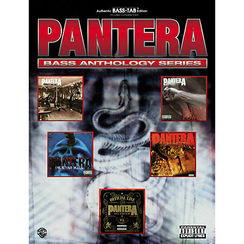 Alfred Pantera Bass Guitar Tab Book
