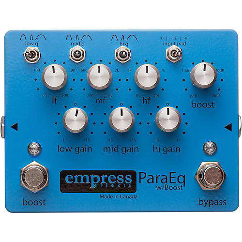 Empress Effects ParaEq with Boost EQ Guitar Effects Pedal