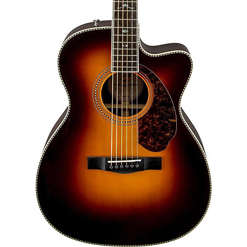 Fender Paramount Series PM-3 Deluxe 000 Orchestra Acoustic-Electric Guitar Vintage Sunburst