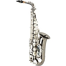 Allora Paris Series Professional Alto Saxophone AAAS-805 - Black Nickel Body - Silver Plated Keys