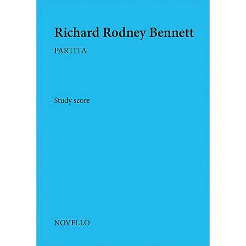 Novello Partita Music Sales America Series Softcover Composed by Richard Rodney Bennett-thumbnail