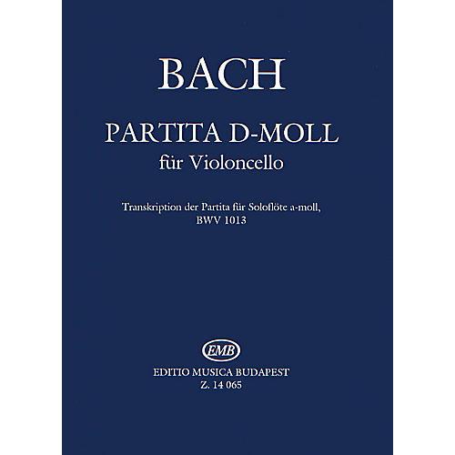 Editio Musica Budapest Partita in D minor (Transcription of BWV 1013) (Violoncello Solo) EMB Series by Johan Sebastian Bach