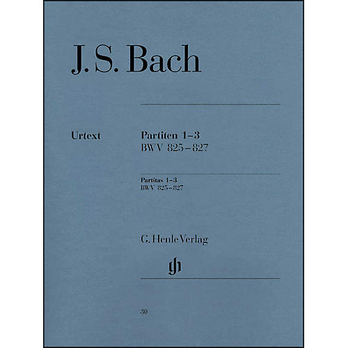 G. Henle Verlag Partitas 1-3 BWV 825 - 827 By Bach-thumbnail