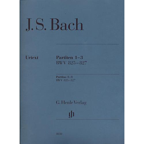 G. Henle Verlag Partitas 1-3 BWV 825-827 By Bach