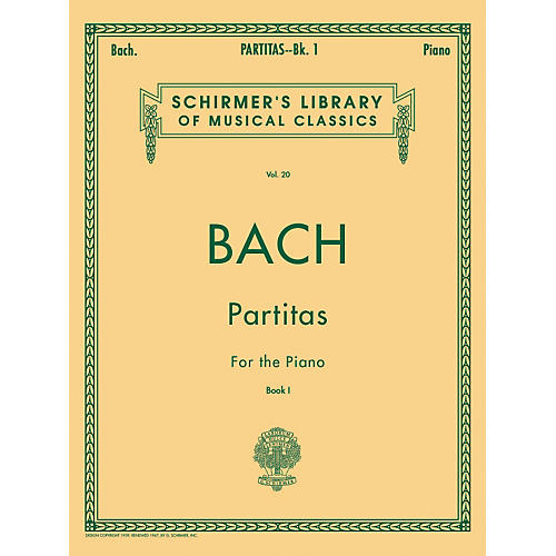 G. Schirmer Partitas for Piano Book 1 Nos 1-3 By Bach