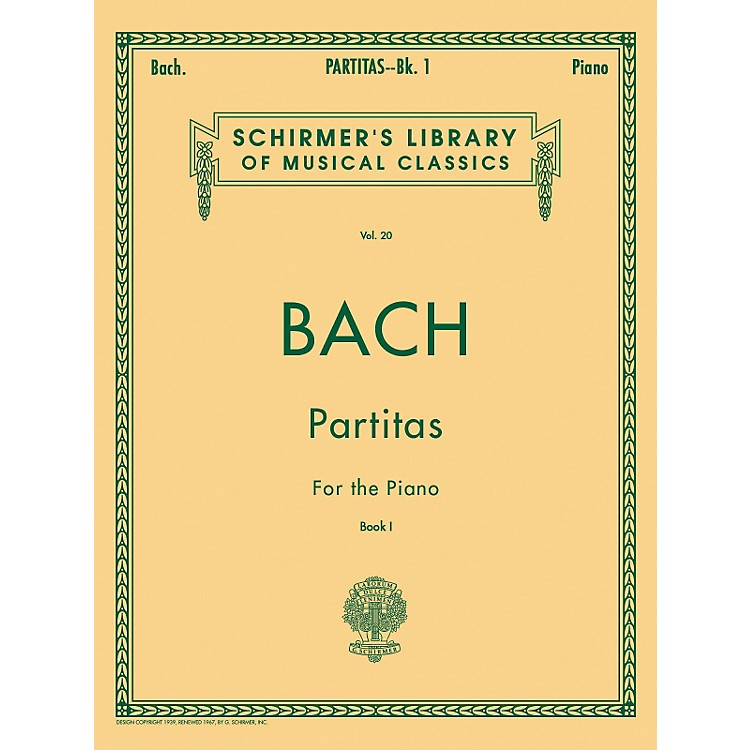 G. SchirmerPartitas for Piano Book 1 Nos 1-3 By Bach