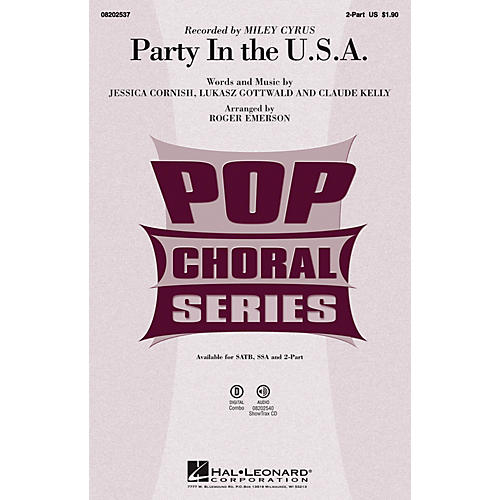 Hal Leonard Party in the U.S.A. 2-Part by Miley Cyrus arranged by Roger Emerson