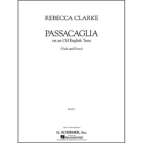 G. Schirmer Passacaglia Va/Pno Of An Old English Tune Viola And Piano By Clarke-thumbnail
