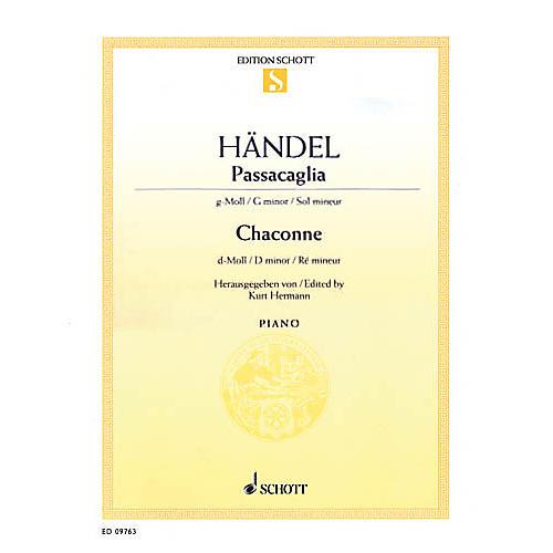 Schott Passacaglia in G Minor and Chaconne in D Minor Schott Series