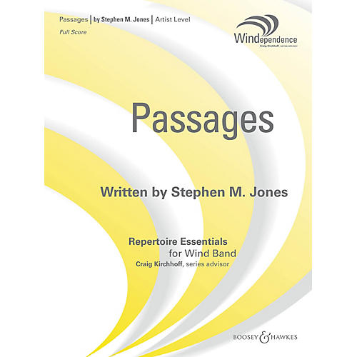 Boosey and Hawkes Passages (Score Only) Concert Band Level 5 Composed by Stephen M. Jones-thumbnail