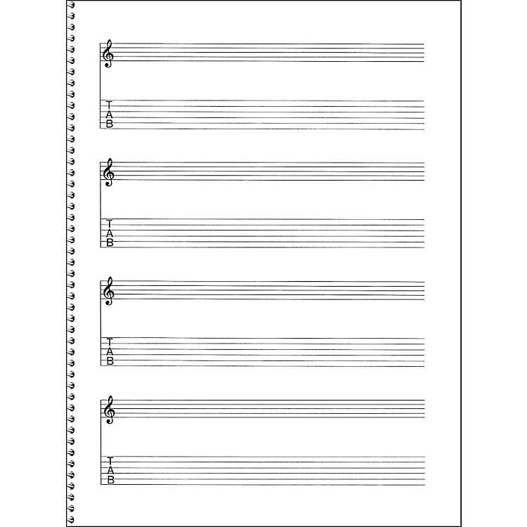 Music SalesPassantino Guitar Manuscript Paper Spiral pad #159 - 4 Staves, 64 Pgs, 9X12