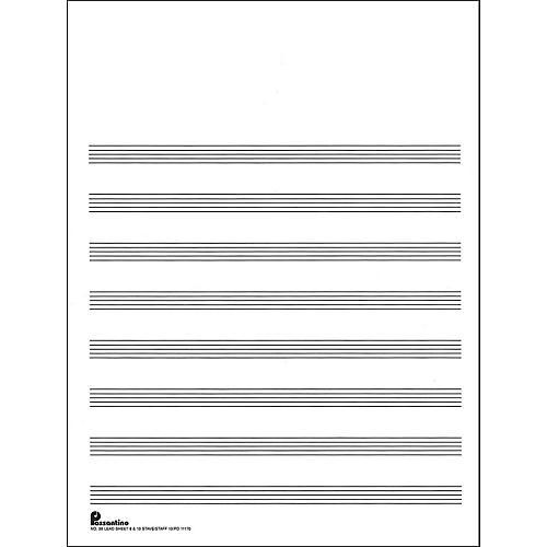 Music Sales Passantino Manuscript #28 8/10 Stave (Lead Sheet), 9X12