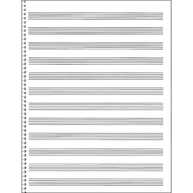 Music SalesPassantino Spiral Book #85 96 Pages, 12 Stave, 9 X 12
