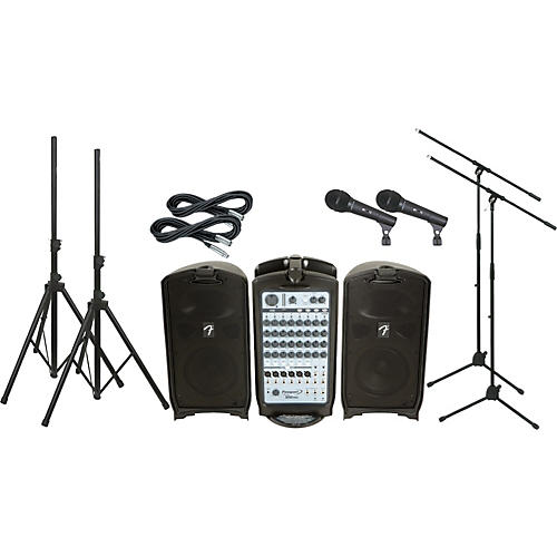 Fender Passport 500 Pro PA Package with 2 Mics
