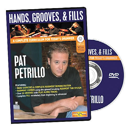 Visual Music Media Pat Petrillo Hands, Grooves & Fills (DVD and Book)