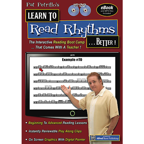 Alfred Pat Petrillos Learn to Read Rhythms . . . Better!  2 DVDs