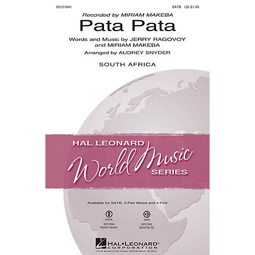 Hal Leonard Pata Pata 3-Part Mixed by Miriam Makeba Arranged by Audrey Snyder