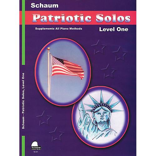 SCHAUM Patriotic Solos (Level 1 Elem Level) Educational Piano Book-thumbnail