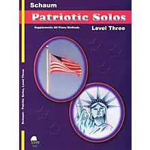 SCHAUM Patriotic Solos (Level 3 Early Inter) Educational Piano Book