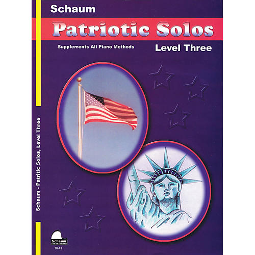 SCHAUM Patriotic Solos (Level 3 Early Inter) Educational Piano Book-thumbnail