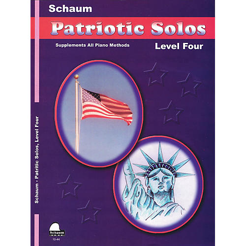 SCHAUM Patriotic Solos (Level 4 Inter Level) Educational Piano Book