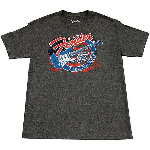 Fender Patriotic Strat T Shirt X Large Gray