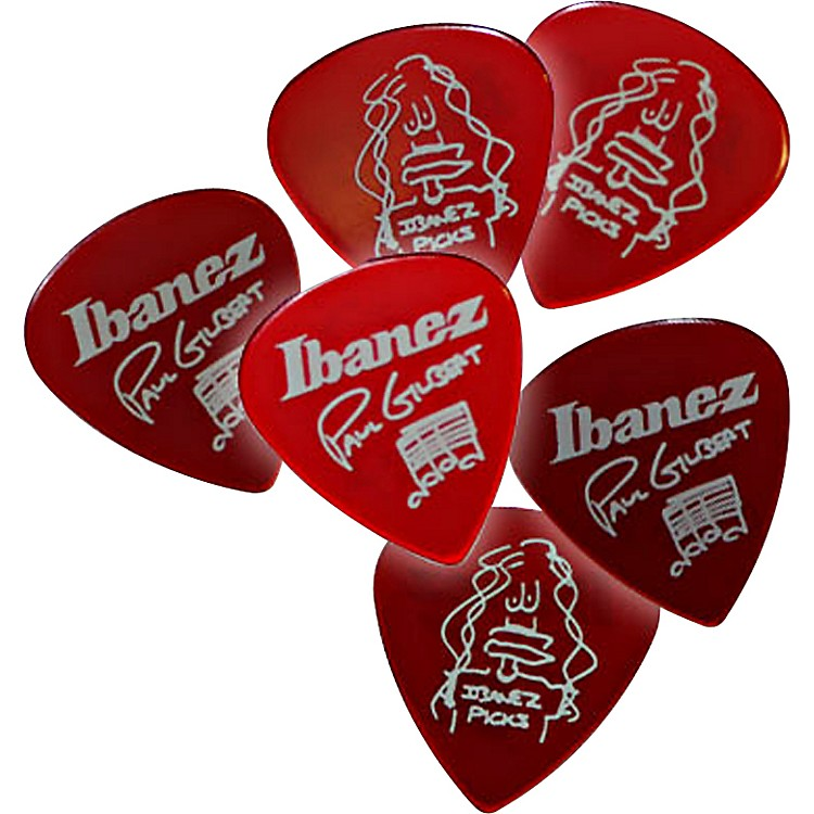 Ibanez Paul Gilbert Red Signature Picks 6-Pack