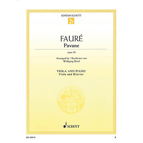 Schott Pavane, Op. 50 (Viola and Piano) String Series Softcover