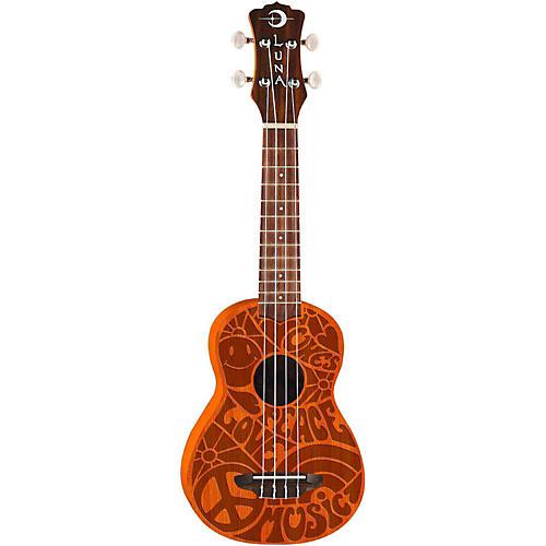 Luna Guitars Peace Love Soprano Ukulele