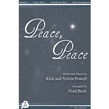 Fred Bock Music Peace, Peace 3 Part Arranged by Fred Bock
