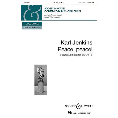 Boosey and Hawkes Peace, Peace! from The Peacemakers (SSAATTB a cappella) SOP 1/2, ALTO 1/2, TEN 1/2 by Karl Jenkins-thumbnail