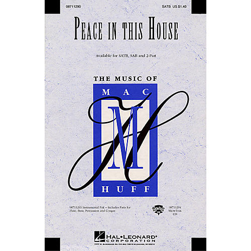 Hal Leonard Peace in This House SATB