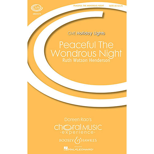 Boosey and Hawkes Peaceful the Wondrous Night SATB/Organ/Brass composed by Ruth Watson Henderson-thumbnail