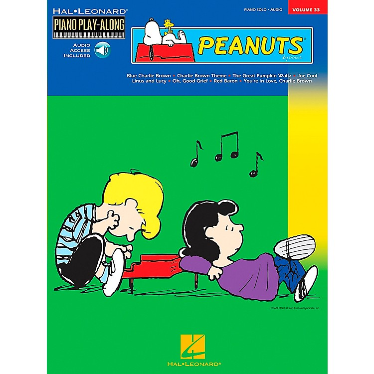 Hal Leonard Peanuts Piano Play Along Volume 33 Book with CD