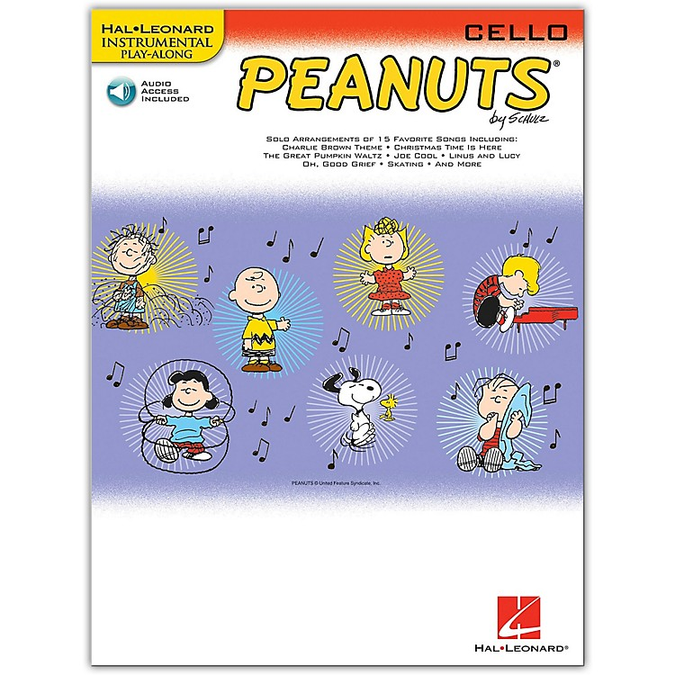 Hal Leonard Peanuts for Cello - Instrumental Play-Along Book/CD