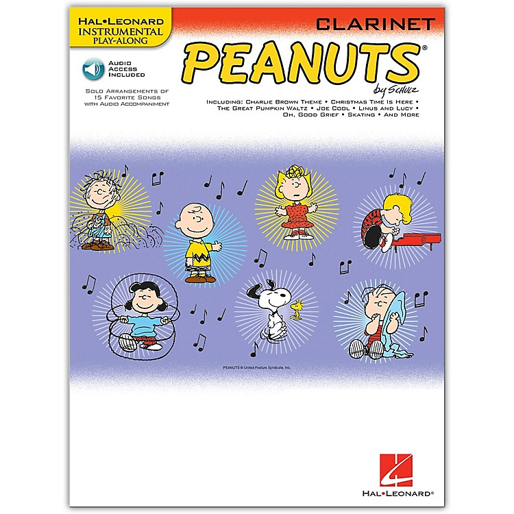 Hal Leonard Peanuts for Clarinet - Instrumental Play-Along Book/CD