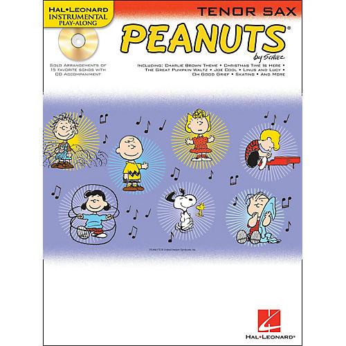 Hal Leonard Peanuts for Tenor Sax - Instrumental Play-Along Book/CD