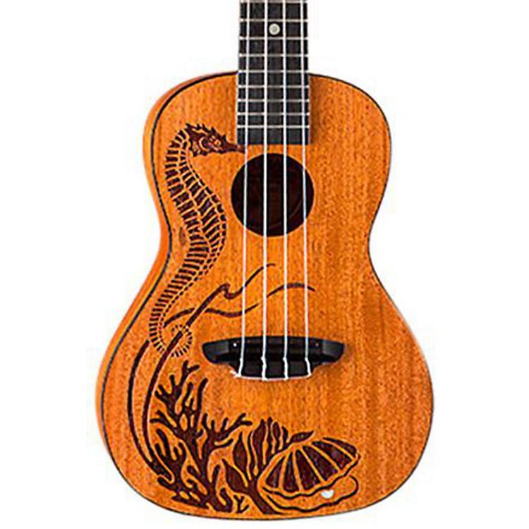 Luna GuitarsPearl Solid Mahogany Concert Ukulele