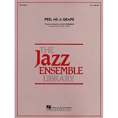 Hal Leonard Peel Me a Grape Jazz Band Level 4 Arranged by George Stone-thumbnail