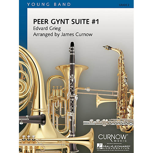 Curnow Music Peer Gynt Suite No. 1 (Grade 2 - Score and Parts) Concert Band Level 2 Arranged by James Curnow