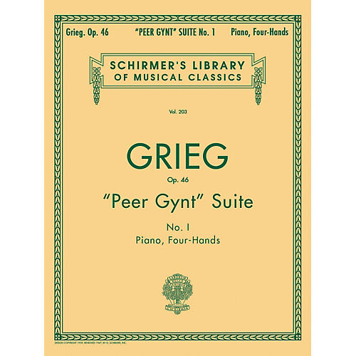 G. Schirmer Peer Gynt Suite Number 1 Piano Four Hands By Grieg