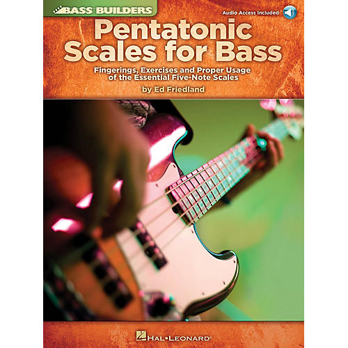Hal Leonard Pentatonic Scales for Bass Bass Builders Series Softcover Audio Online Written by Ed Friedland-thumbnail