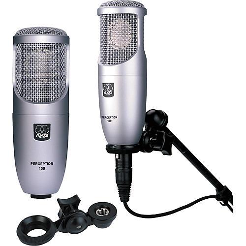 AKG Perception 100 Condenser Microphone 2 Pack-thumbnail