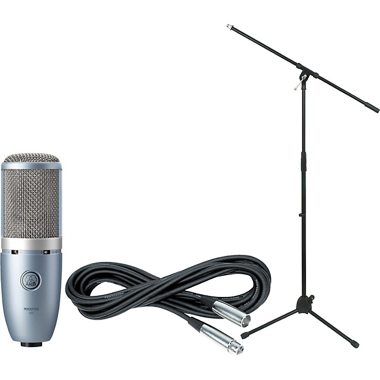 AKG Perception 220 Condenser Mic with Cable and Stand