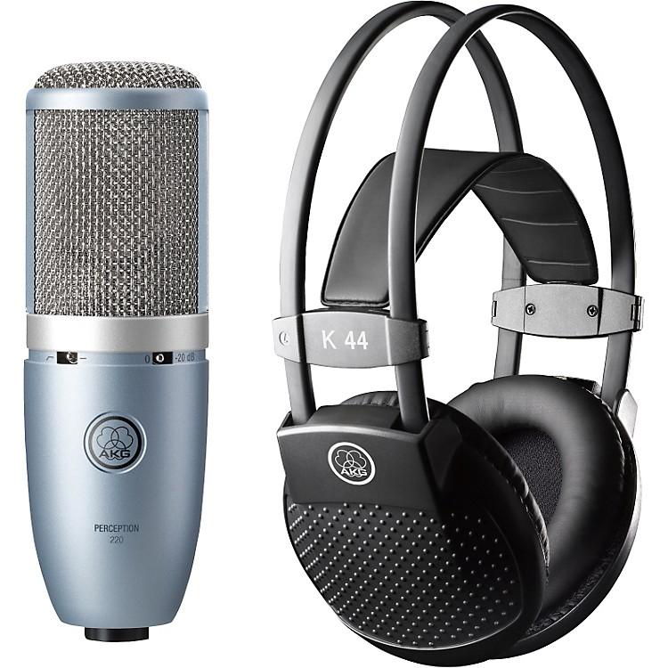 AKGPerception 220 Condenser Mic with K 44 Headphones