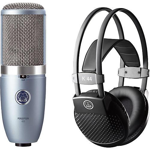 AKG Perception 420 Condenser Mic with K 44 Headphones