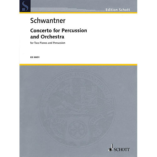 Schott Percussion Concerto No. 1 (Percussion and 2 Pianos, 4 Hands Reduction) Percussion Series-thumbnail