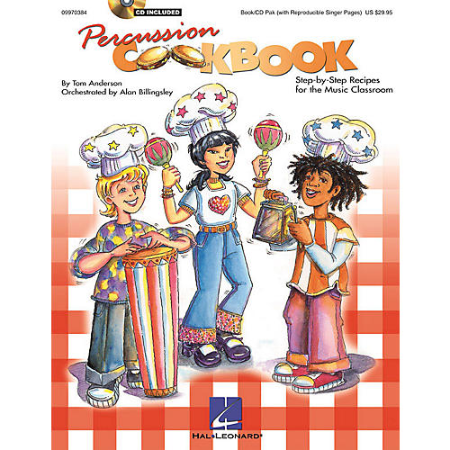 Hal Leonard Percussion Cookbook (Collection/Resource) (Book/CD Pack) Composed by Tom Anderson-thumbnail